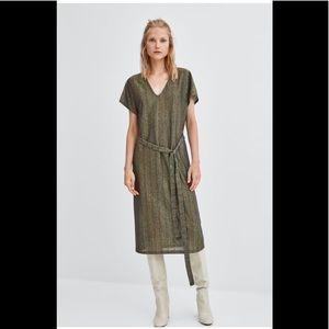 New with tags Zara metallic dress small